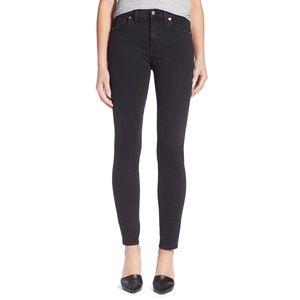 Madewell High Riser Skinny Jeans Faded Black 30